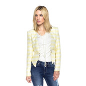 jacket,sunshine,chic,yellow,white,crop,makeup table,vanity row,dress to kill,too cute,trendy