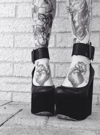 shoes platform shoes straps