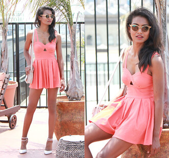 dress pink cute love fashion lovely sunglasses shoes summer