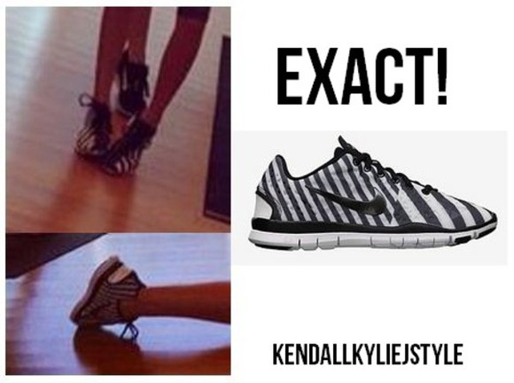 shoes nike sneakers kendall jenner nikes nike free tr fit 3