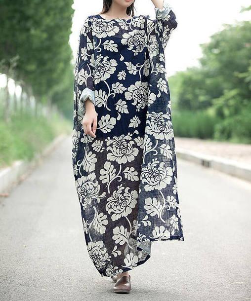 dress blue long dress