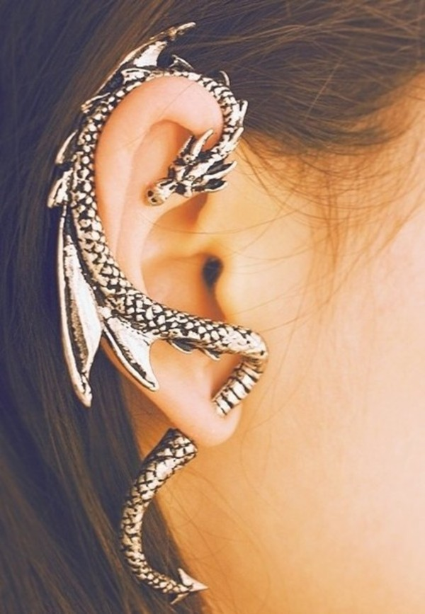 jewels earrings dragon