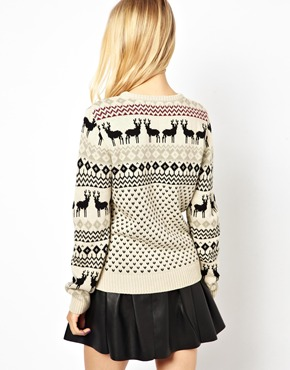 Pretty Vacant | Pretty Vacant Reindeer Jumper at ASOS