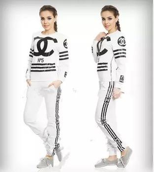 2015 nouveaux sports casual lettre costume des femmes marque cc imprim