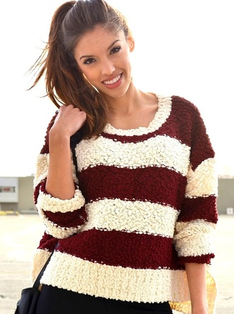 sweater white white sweater cream ivory ivory sweater cream sweater burgundy burgundy sweater maroon/burgundy striped sweater