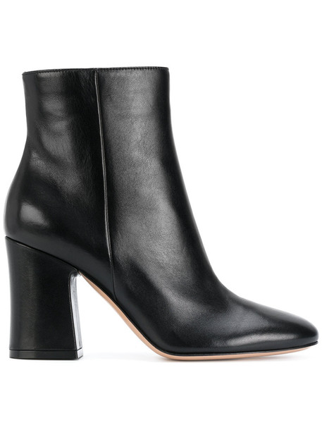Gianvito Rossi women ankle boots leather black shoes