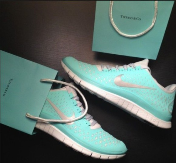 shoes trainers free run nike women tiffany blue nikes