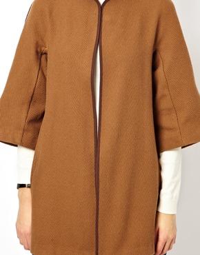 ASOS Petite | ASOS PETITE Exclusive Cape Jacket in Camel at ASOS