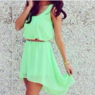 dress a lime green dress