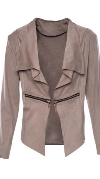 jacket taupe suède jacket
