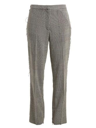 white grey pants
