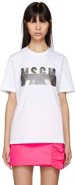 MSGM t-shirt shirt t-shirt white top