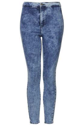 Petite MOTO Mottled Bleach Joni Jeans - Topshop