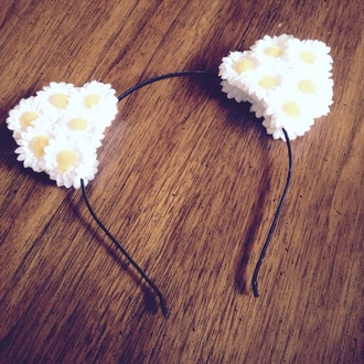 hair accessory daisy cat ears