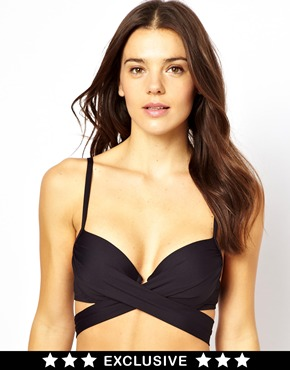 Sunseeker | Sunseeker Exclusive To ASOS Wrap Padded Bikini Top at ASOS