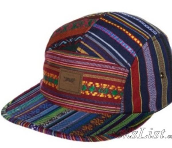 hat snapback rainbow obey pattern mexican