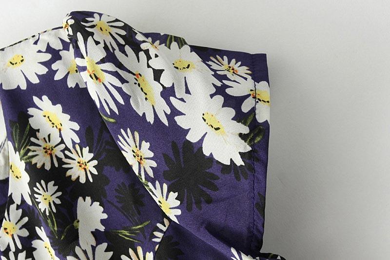 New Look Daisy Print High Waist Dress [SHWM00102] - PersunMall.com
