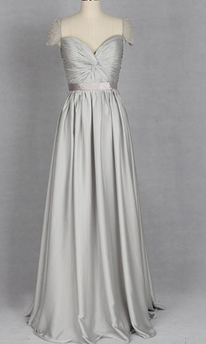 Long Sliver Cap Sleeve Twist Bust Prom Dresses KSP268 [KSP268] - £93.00 : Cheap Prom Dresses Uk, Bridesmaid Dresses, 2014 Prom & Evening Dresses, Look for cheap elegant prom dresses 2014, cocktail gowns, or dresses for special occasions? kissprom.co.uk offers various bridesmaid dresses, evening dress, free shipping to UK etc.