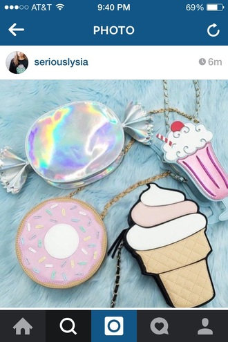 bag sweet sweets ice cream donut cupcake purse pastel kawaii lolita girly