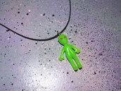 jewels,alien,necklace,ufo,green,hipster,grunge,pale,pastel,glow in the dark,indie,cool,rad,choker necklace,jewelry,pastel goth,pastel grunge