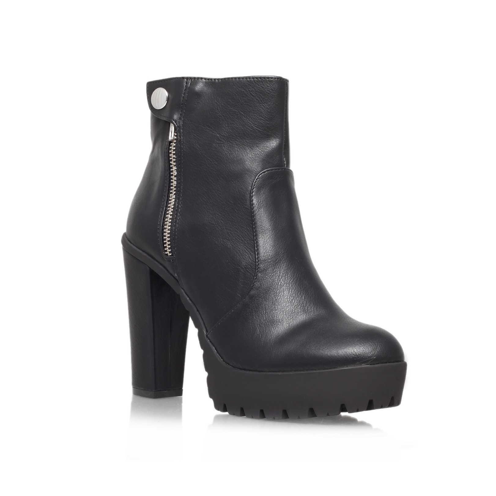 Kurt Geiger | SIMBA Black High Heel Ankle Boots by Miss KG