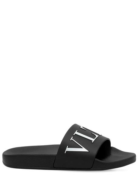 VALENTINO Vltn Logo Pvc Slide Sandals in black