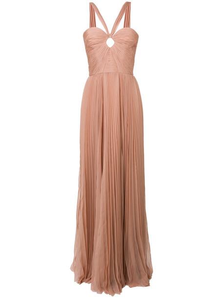 gown women nude silk dress