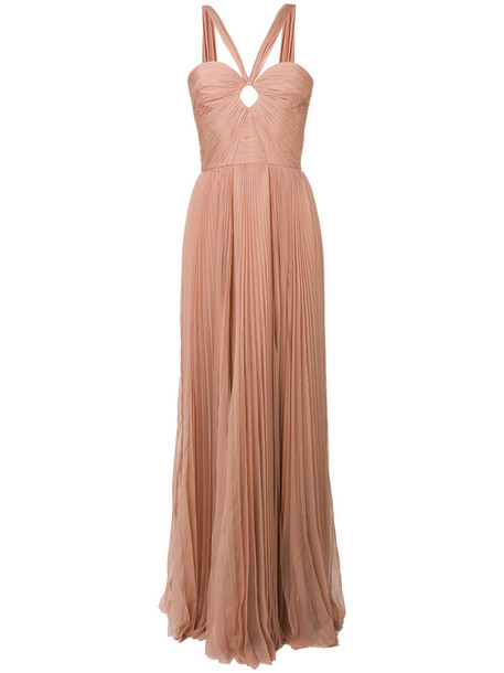 Dsquared2 gown women nude silk dress
