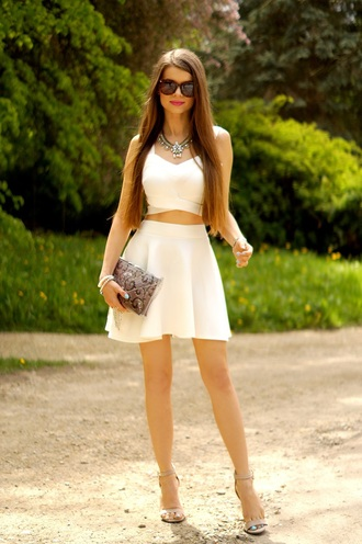 only my fashion style blogger top skirt bag jewels