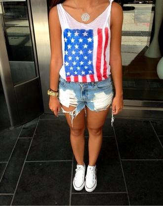 tank top american flag american flag shirt american flag tank top flag usa flag shorts