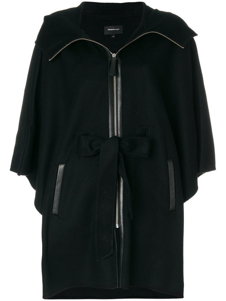 mackage cape women black wool top