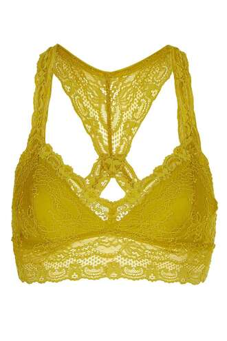 underwear lace bralette mustard