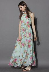 dress,serene belle floral maxi slip dress,chicwish,floral dress,floral maxi dress,fashion look,style,holiday look,chicwish.com,beach party dress