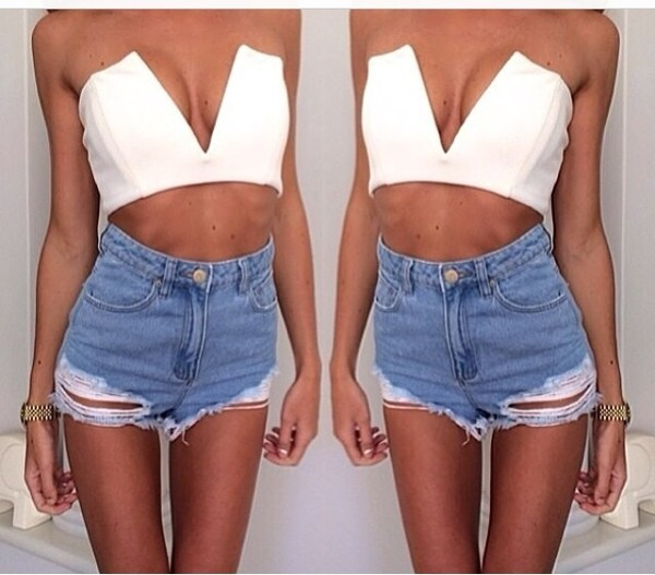 tank top shorts jeans top
