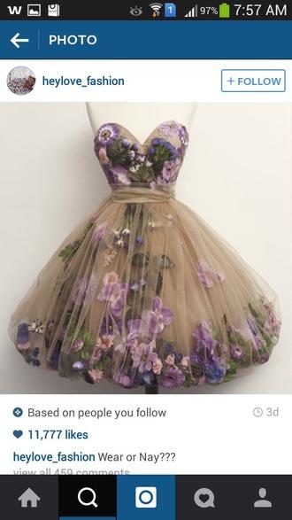 dress flower dress #colourful flowerdress