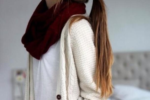 cardigan fashion scarf white fall