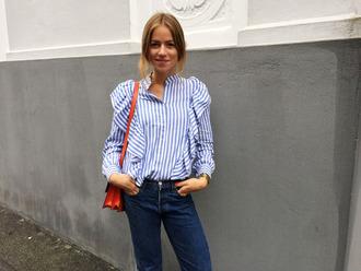 trine'swardrobe blogger shirt bag jeans striped shirt