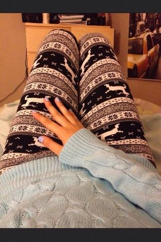 pants leggings winter christmas christmas leggings