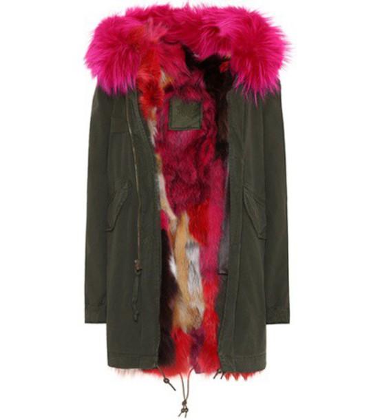 Mr & Mrs Italy parka fur green coat
