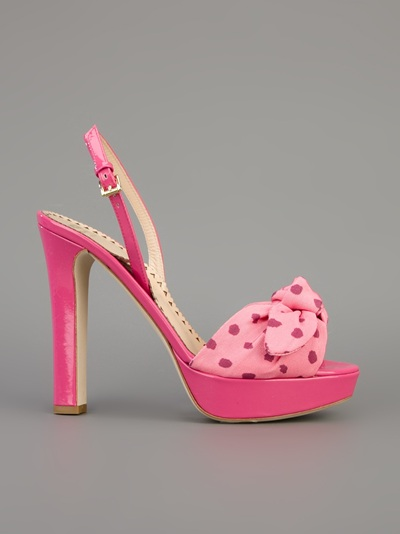 Moschino Cheap & Chic Polkadot Bow Sandal - Galante - Farfetch.com