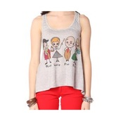 top,i love lucy,tv show,old hollywood,grey,graphic tee,papaya,cartoon,tank top,grey top