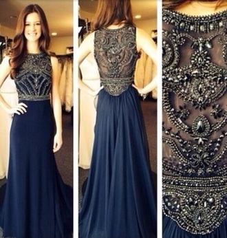 dress long blue beaded prom dress prom dress long prom dress sequin prom dress blue prom dress navy blue formal dress evening dress long evening dress evening outfits formal dress formal event outfit prom dress 2016