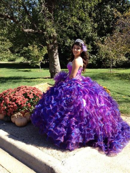 purple dress quinceanera dress