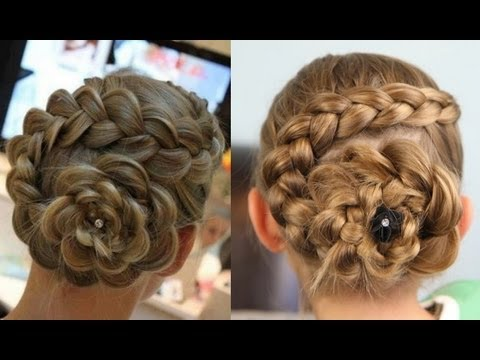 Dutch Flower Braid Updos Cute Girls Hairstyles Youtube