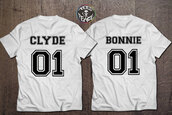 shirt,bonnie and clyde,white t-shirt,matching set,couples shirts,beyonce,Jay Z,mothers day gift idea,gifts for him,birthday gifts for her,anniversary present,engagement present