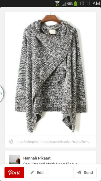 wrap sweater grey comfy outfits