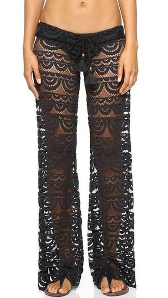 pants lace black