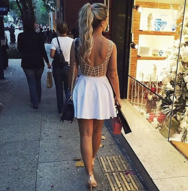 dress short cute dress open back white dress bad bitches link up bandage dress streetwear streetstyle