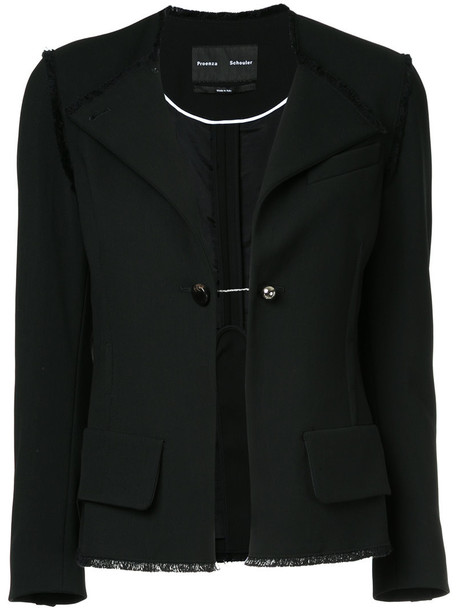 Proenza Schouler blazer women classic spandex cotton black wool jacket