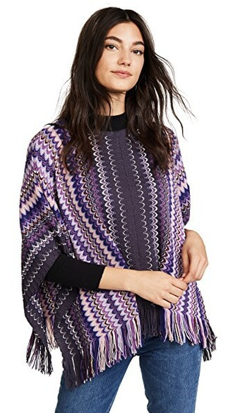 poncho purple top